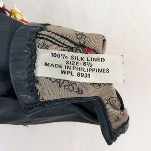 Vintage Accessories - Vintage Silk Lined Leather Gloves